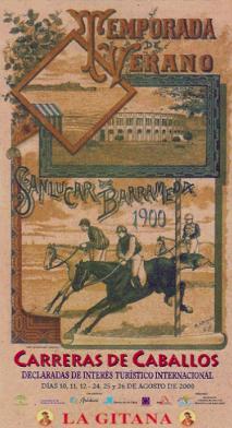 Promotional Poster of Horse Racing of Sanlúcar de Barrameda