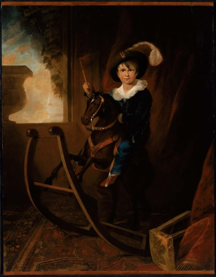 Boy with Hobby Horse (1815) by Henry Sargent