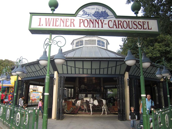 Prater Park Carousel with Ponys