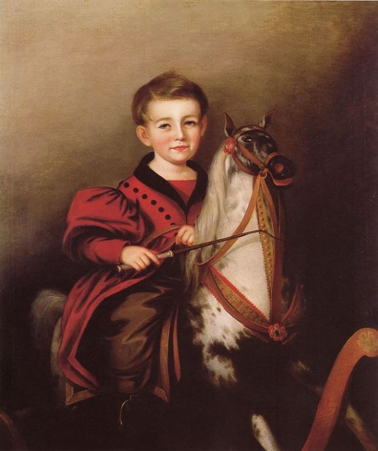 Charles Lavallen Jessop (boy on rocking horse) by Sarah Miriam Peale 1840