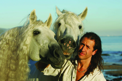 Frederic Pignon and his two horses