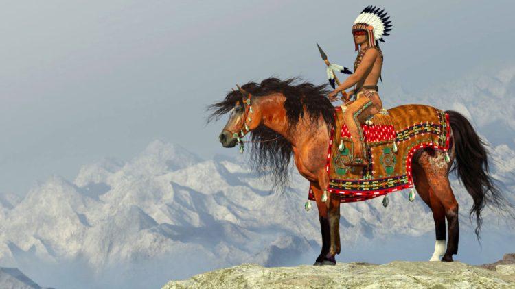 American indian on horseback