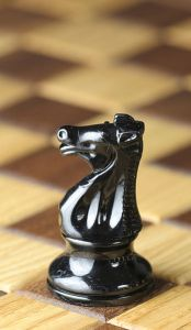 Chess piece - Black knight (or horse)