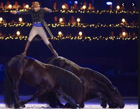 Santi Serra over horses