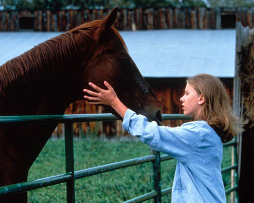 Scarlett Johansson in The Horse Whisperer