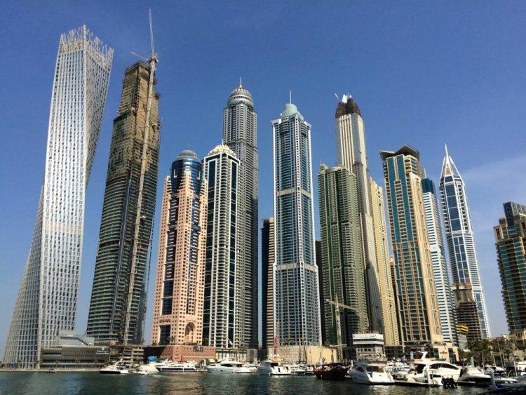 Dubai Marina and Cayan Tower - Example of Dubai Architecture