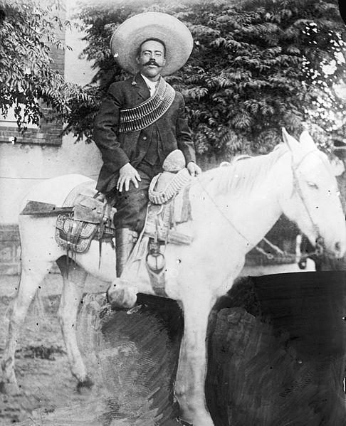 Pancho Villa on horseback