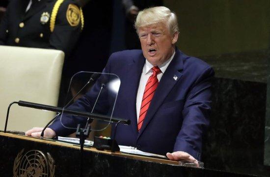 President Trump in UN