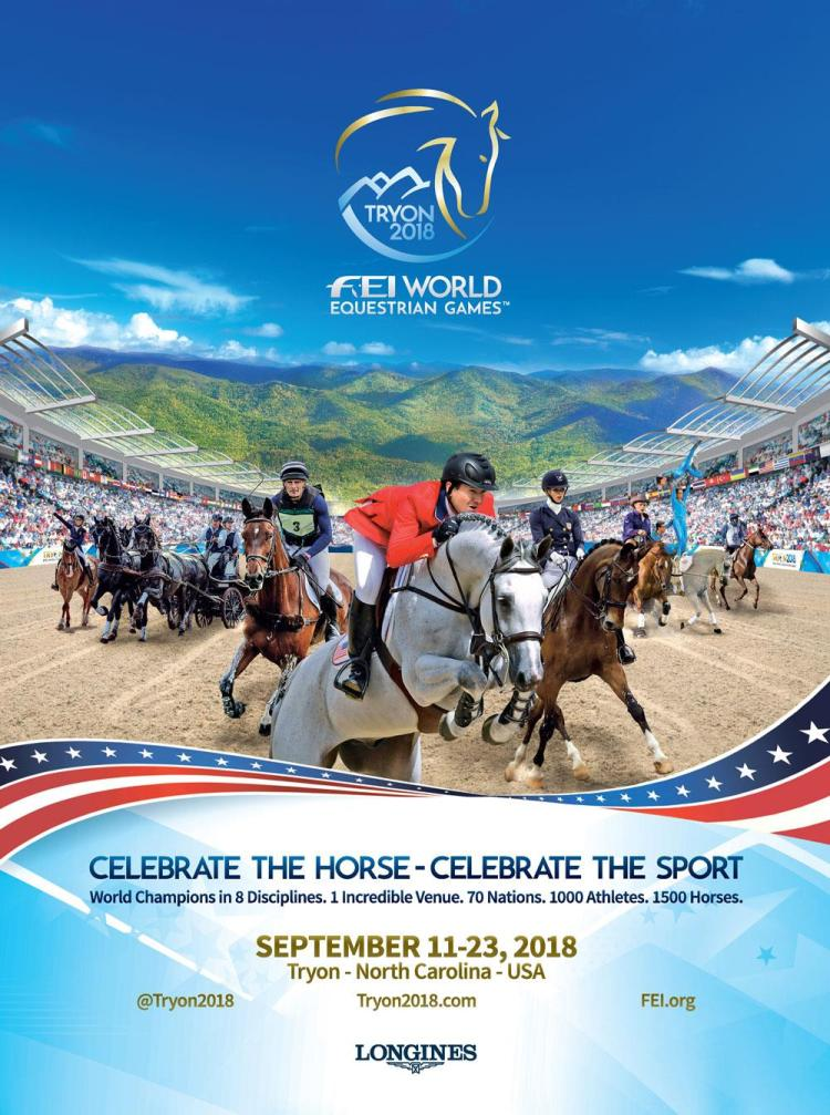 Poster de los Juegos Ecuestres Mundiales Tryon 2018