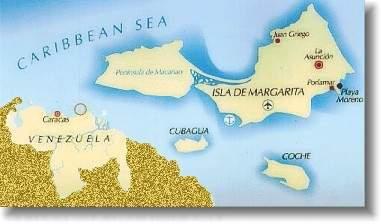 Mapa de Venezuela y el estado Nueva Esparta