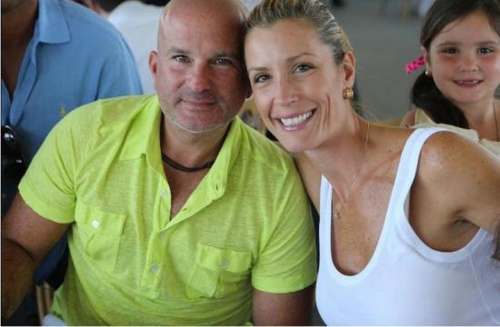 Carolina Chapellin and her husband