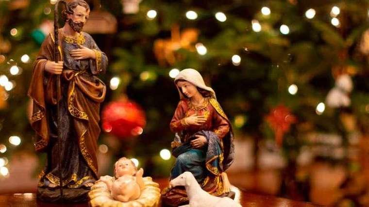 Nativity scene of the baby jesus - Christmas Celebrations