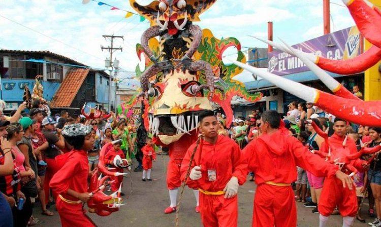 Celebración de los carnavales en Barquisimeto