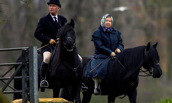 Queen Elizabeth II on horseback