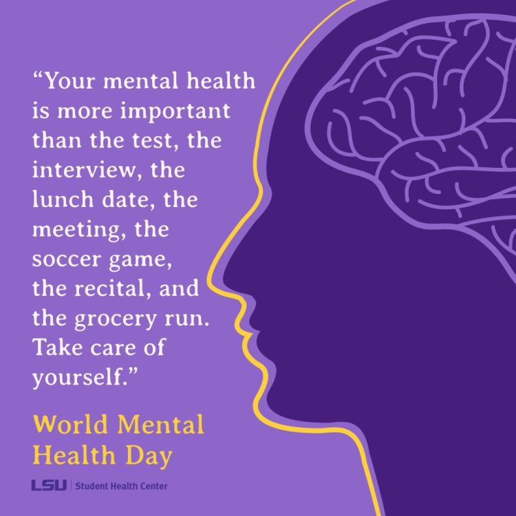 Your mental health is more important than...