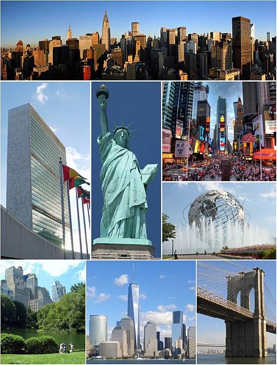 Collage de la ciudad de Nueva York - Las ciudades favoritas de USA de Gustavo Mirabal