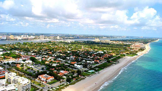 El paisaje de Palm Beach en Florida