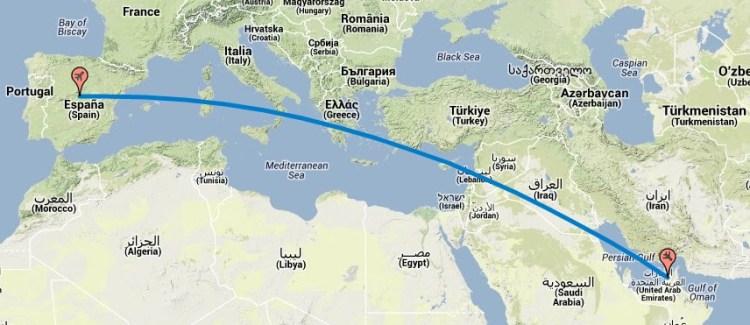 Vuelo de Madrid a Dubai