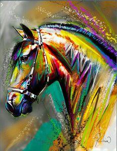 Cuadro moderno para decoración para los amantes de los caballos