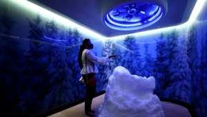 El palacio de playa de Suecia tiene un cuarto de nieve