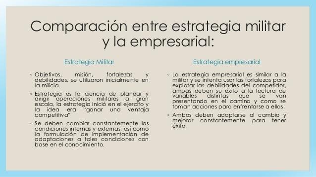 Estrategia militar y empresarial - Gustavo Mirabal ¿Qué planificó?