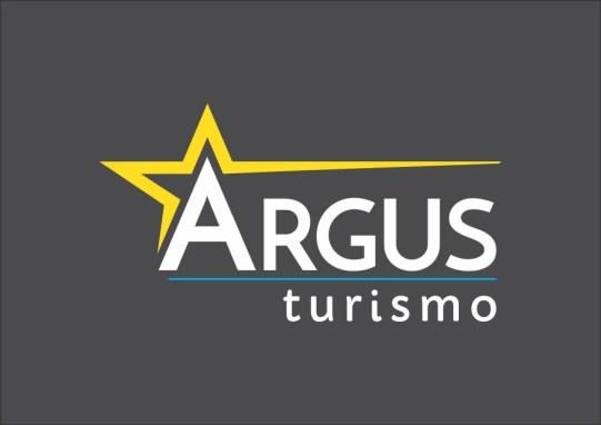 Logotipo Argus Turismo com fundo escuro
