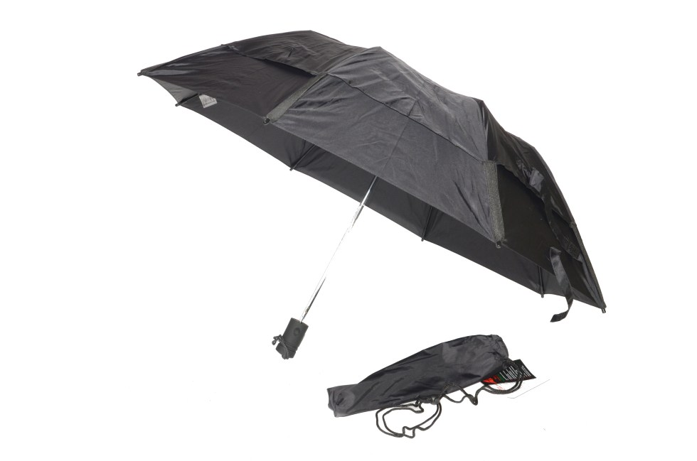 Gustbuster Metro umbrella black open