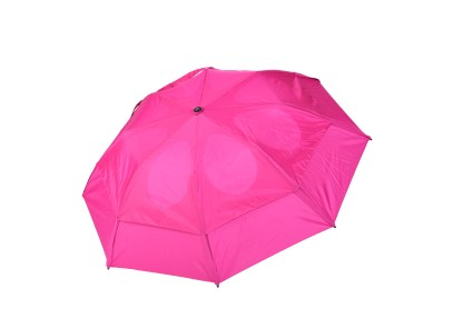 GustBuster Metro windproof umbrella Fuchsia outside canopy