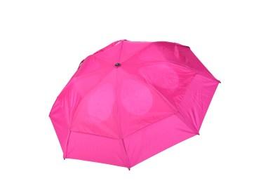 GustBuster Metro windproof umbrella Fuchsia outside canopy