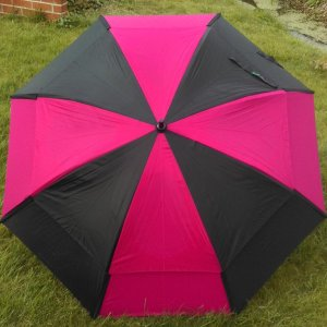 Gustbuster Golf Windproof Umbrella Black Fuchsia