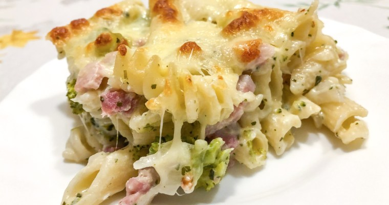 Pasta Gratin mit Broccoli