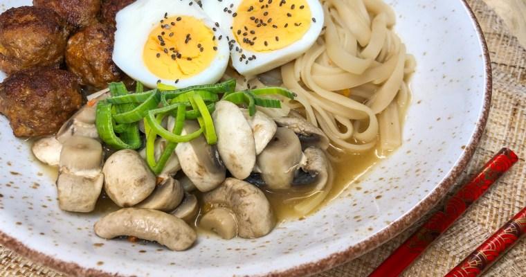 Miso Ramen mit Pilzen