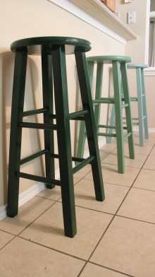 Gusto and Grace Green Ombre Barstools