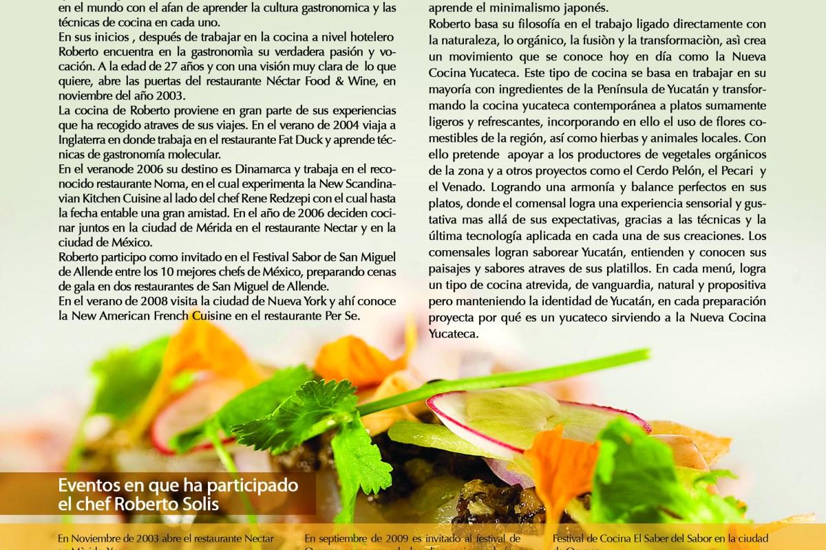 Nectar by Chef Roberto Solís presente en Cancún Wine & Food Festival vía Revista Taste
