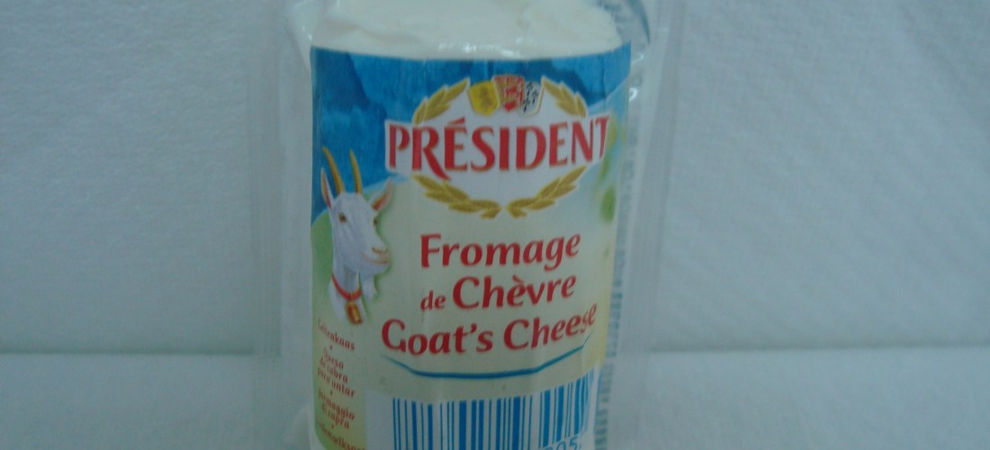 """""""Queso Cabra Natural, Ceniza y Hierbas Président"""""""