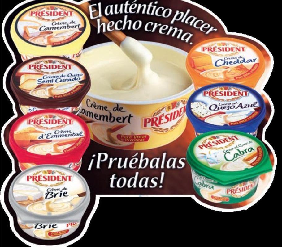 Catálogo 2012 «Cremas de Queso Président»