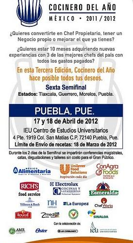 Se Busca al Cocinero del Año Puebla 17 y 18 de Abril