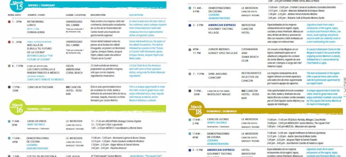 """Conoce """"Calendario de Actividades Cancún Wine & Food Festival"""""""