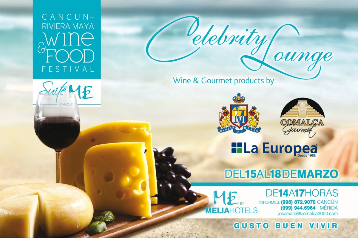 Coctail de Bienvenida «Celebrity Lounge» Cancún Wine & Food Festival