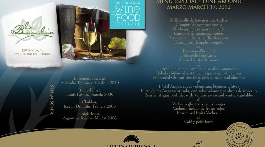 """Conoce el Menú del Restaurante Le Basilic en el marco de """"Cancún Wine & Food Festival"""""""