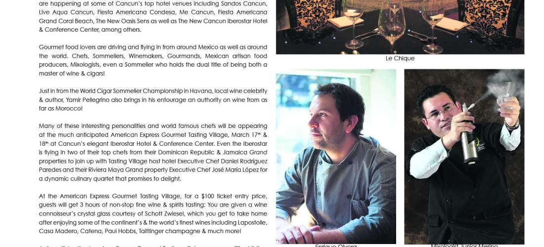 Less than a week to go «Cancún-Riviera Maya Wine & Food Festival»