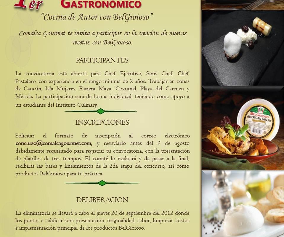 Comalca Gourmet te invita al 1er Concurso Gastronómico «Cocina de Autor con BelGioioso»