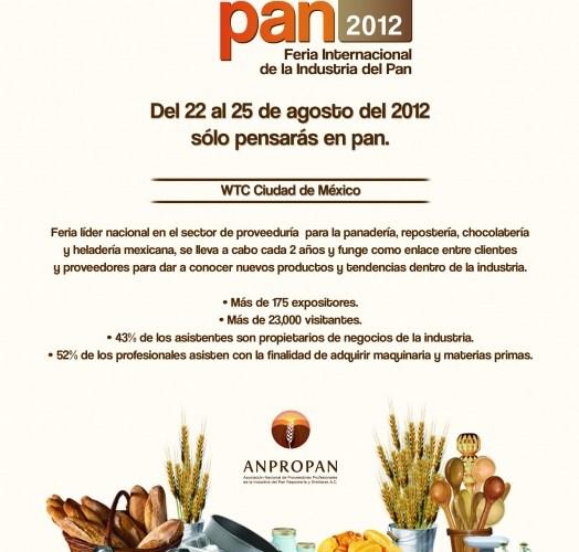 Feria Internacional de la industria del pan Mexipan @MEXIPAN1 2012 del 22 al 25 de Agosto 2012 WTC Cd. México