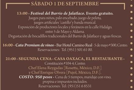 """Programa Sábado 1 de Septiembre  Festival """"El Saber del Sabor"""" @saberdelsabor #FESS2012"""