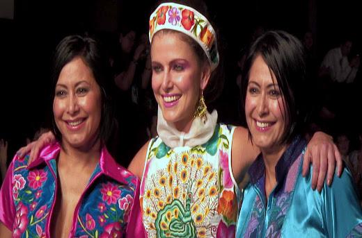 """Pasarela Paulina y Manilani en International Designers México @IDMfashion SS13 """"Amor a los textiles indígenas"""""""
