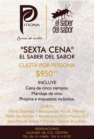 Reserva tu espacio en la Sexta Cena Festival  «El Saber del Sabor» @saberdelsabor #FESS2012