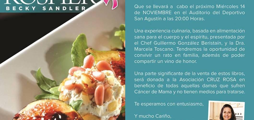 "Chef Guillermo González Beristain @GGBeristain presenta el libro ""Nutritivamente Kosher"" 14 Nov 2012"