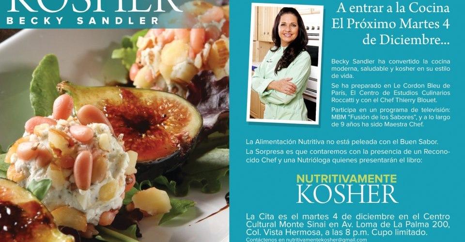 """Presentación libro """"Nutritivamente Kosher"""" Martes 4 Diciembre Centro Cultural Monte Sinai México, D.F."""