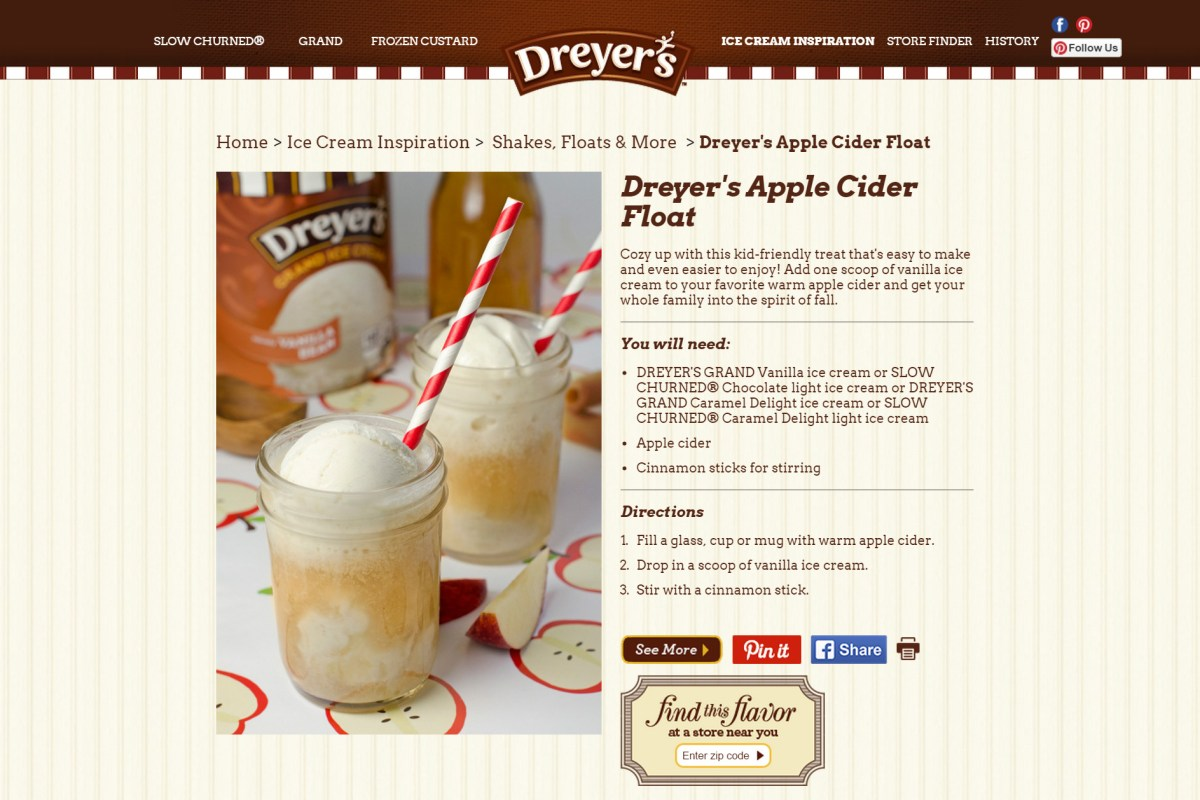 Dreyer's Apple Cider