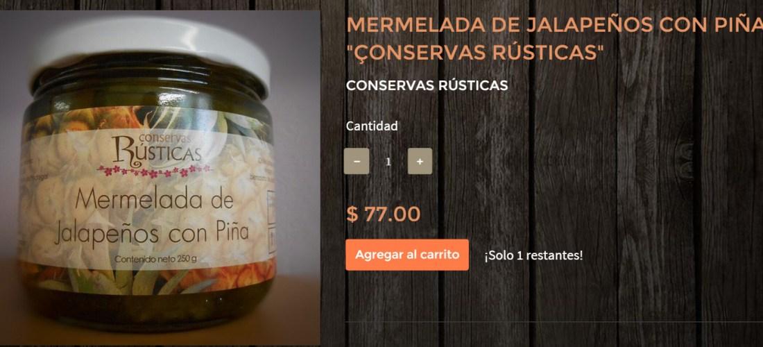 """Gourmands Market Mermelada de Jalapeños con Piña """"Conservas Rústicas"""" @ConservasRustic"""